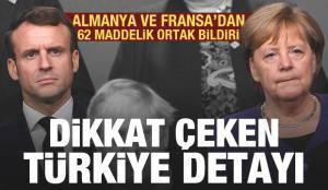 Almanya ve Fransa'dan 62 maddelik ortak bildiri! Dikkat çeken Türkiye detayı