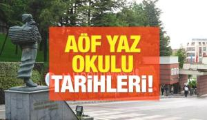 Anadolu Üniversitesi 2021 AÖF yaz okulu kayıt ve sınav tarihleri! Sınavlar yüz yüze mi yapılacak?