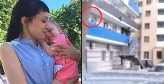 Böyle anne olmaz olsun! Korkutmak için 6'ıncı kattan sarkıttığı 3 yaşındaki kızını yere düşürdü