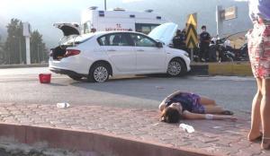 'Dur' ihtarına uymayıp kaza yapan alkollü sürücünün sözleri pes dedirtti