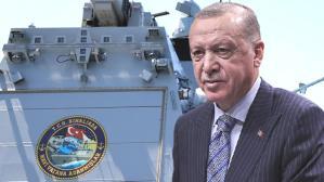 """Erdoğan'ın """"Hedefi tam isabetten vurdu"""" dediği milli gemiye özel amblem! İçinde pek çok gizli mesaj var"""