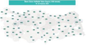 İl il koronavirüs vaka sayıları kaçtır? 19-25 Haziran İl il güncel koronavirüs risk haritası ve haftalık vaka sayıları açıklandı mı?