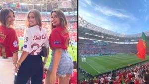 Macaristan-Portekiz maçında uzun süre sonra tribünlerde renkli görüntüler oluştu