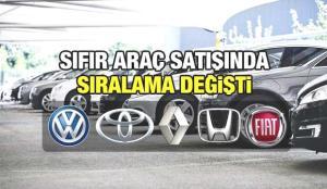 Sıfır araç satışında sıralama değişti! Volkswagen, Fiat, Toyota, Renault, Honda, fiyatları rekabeti kızıştırdı