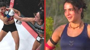 Survivor'daki halinden eser yok! Ringde Fransız rakibini perişan eden Sabriye, MMA tarihine geçti