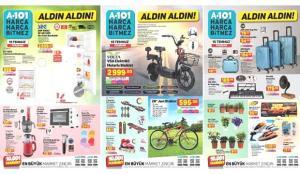 A101 15 Temmuz Aktüel Kataloğu! Elektronik, derin dondurucu, züccaciye ve tekstil ürünlerinde..