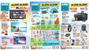 A101 8 Temmuz Aktüel Ürünler Kataloğu! Züccaciye, elektronik, kamp sandalyesi ve tekstil…