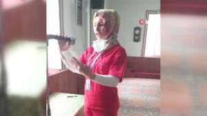 Amasyalı Gülseren hemşire, cami hoparlöründen aşı çağrısı yaptı