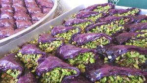 Gaziantep'te şeker hastalarına özel mor baklava