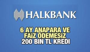 HalkBank 6 Ay Anapara ve Faiz Ödemesiz 200 Bin TL'ye Kredi Veriyor! 2021 Kredi Başvuru Detayları
