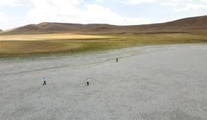 Saray Tuz Gölü de kurudu
