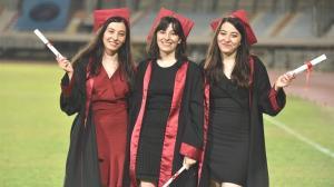 Üçüz doktorların diploma gururu: Birbirimizi destekledik