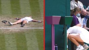Wimbledon'da yürekler ağza geldi! İstifra edip kendini yere bırakan Tunuslu tenisçi korkuttu