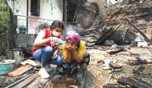 10 bin 500 gönüllüyle Türk Kızılay yangın mağdurlarına desteğin ön saflarında