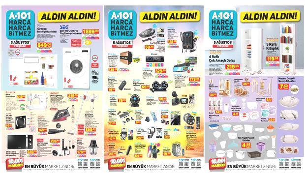 A101 5 Ağustos Aktüel Ürünler Kataloğu! Elektronik, oto aksesuar, züccaciye ve elektrikli ev..