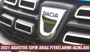 Dacia 2021 Ağustos sıfır araç fiyat listesini açıkladı! 2021 Sandero, Duster, Lodgy, fiyatı listesi