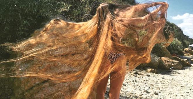 İşte gerçek Rapunzel! Hayatı boyunca saçlarına makas değmedi
