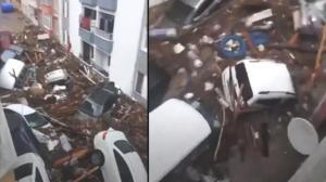 Son dakika: Karadeniz'i sel vurdu! Araçlar sel sularında sürüklendi