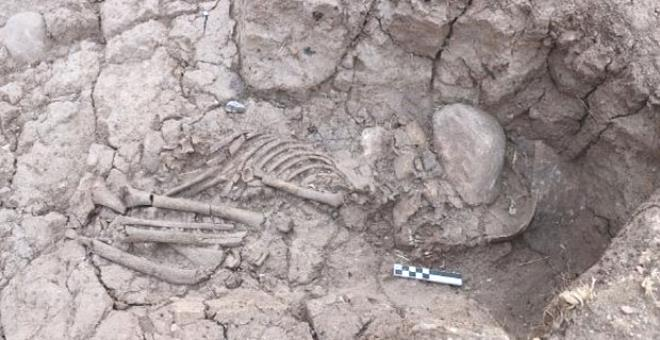 Tozkoparan köyünde heyecanlandıran keşif! Arkeologlar 5 bin 500 yıllık çocukla karşılaştı