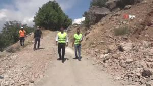 """Tunceli'nin dikkat çeken kaya konutları """"İn delikleri"""" için ilk adım atıldı"""
