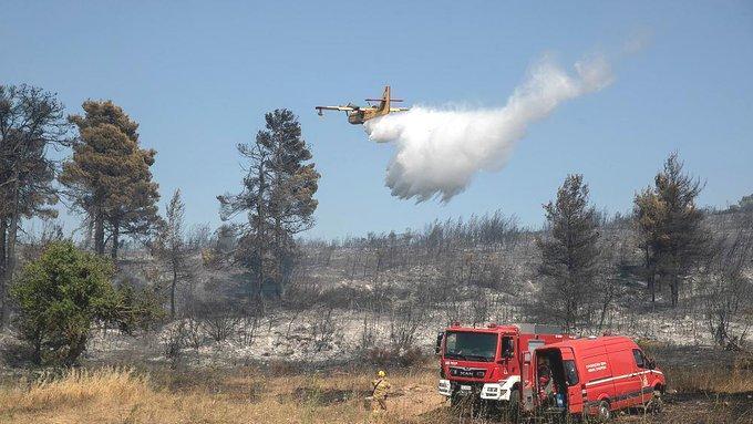 Yunanistan'da 58 Noktada Yangın Çıktı: 'Birçoğu Büyümeden Söndürüldü'