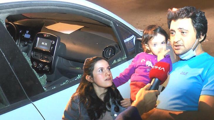'İmamoğlu'nun özel kalemiyim' dedi! 2 yaşındaki çocuğun bulunduğu otomobili taşladı