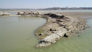 Roma dönemine ait! Suların çekilmesiyle ortaya çıktı
