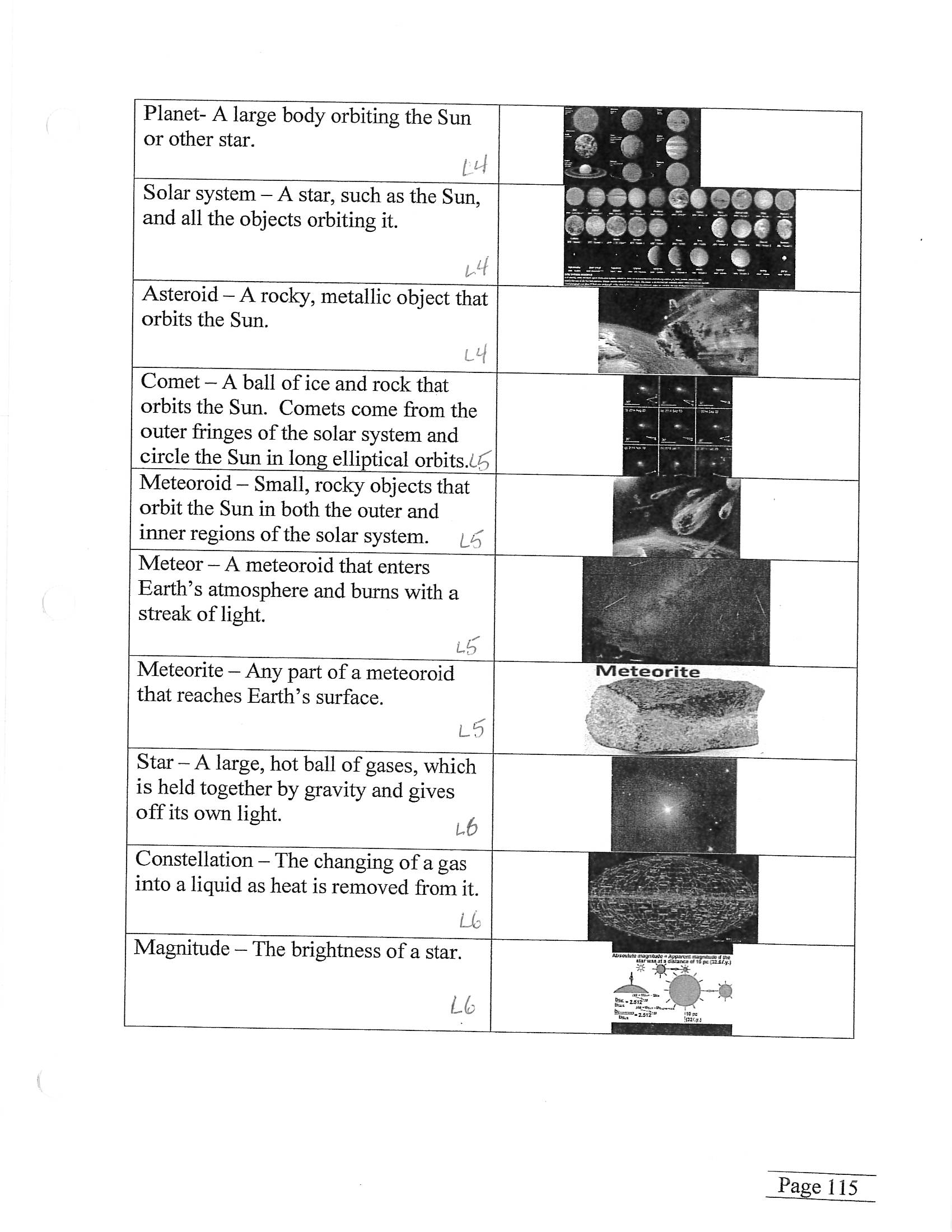 Bill Nye Comets And Meteors Worksheet Answers