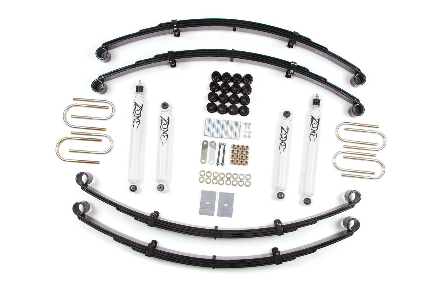 Zone Offroad 2 Leaf Springs Lift Kit Jeep