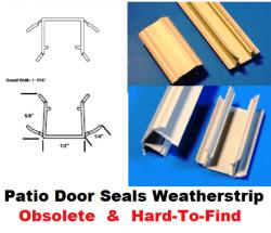 old crestline wood sliding patio door