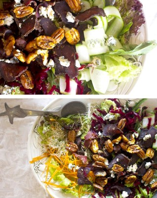 Biltong and Blue Cheese Salad with Candied Pecans