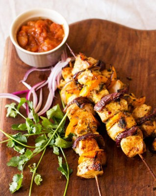 Garlic and Coriander Chicken Kebabs