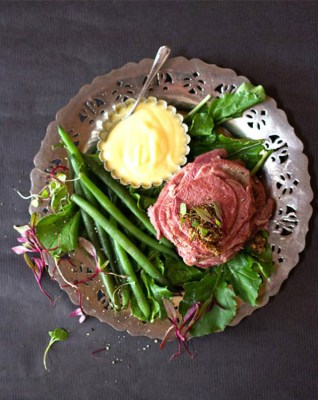 Pickled Ox Tongue with Sweet Mustard Sauce
