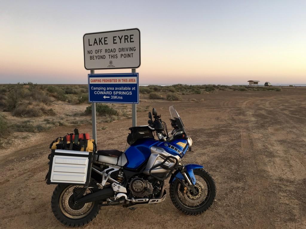 Super Tenere at Lake Eyre