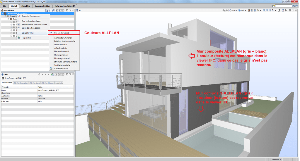 BIMblog_ALLPLAN couleur IFC_Modele ALLPLAN_Solibri Model Viewer