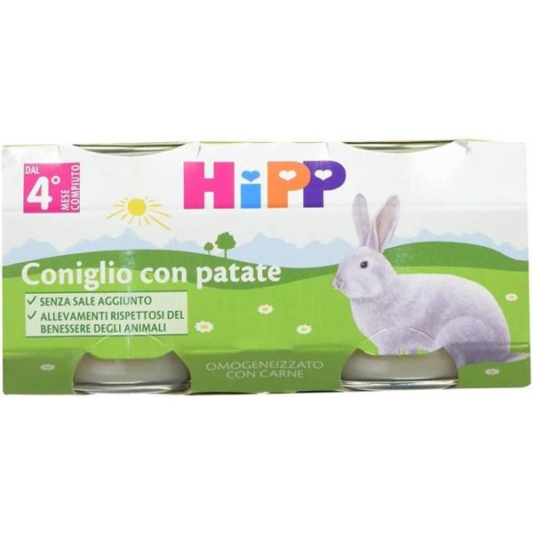 Hipp Omogenizzati Carne Coniglio con patate 2x80g
