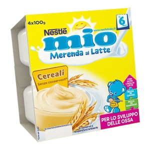 Mio Merenda al Latte Cereali 4x100g