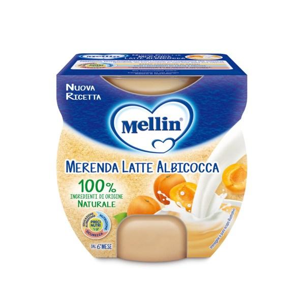 Mellin Merenda Latte Albicocca 2x100g