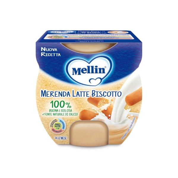 Mellin Merenda Latte Biscotto 2x100g