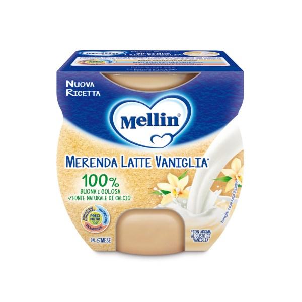 Mellin Merenda Latte Vaniglia 2x100g