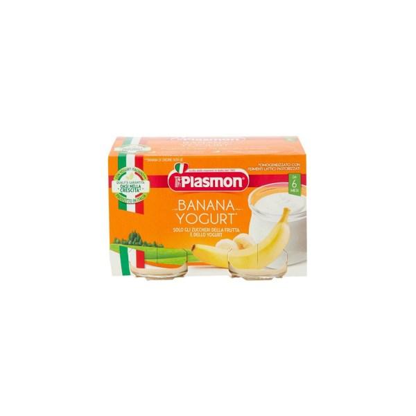 Plasmon Omogeneizzato Banana e Yogurt 2x120g
