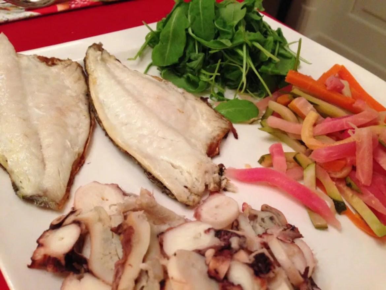 Ricetta Branzino verdure rucola
