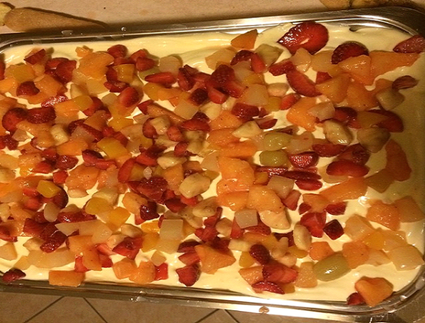 Tiramisu di frutta bimby
