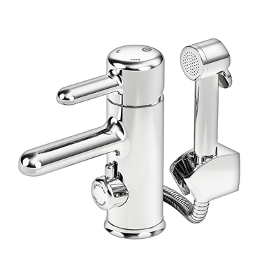 bathroom sink faucet logic with side