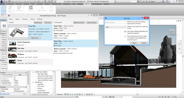BCF Add-Ins for Revit