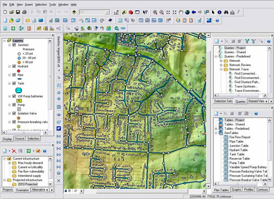 Bentley Systems introduces a series of information modeling software like WaterCAD, WaterGEMS and HAMMER V8i