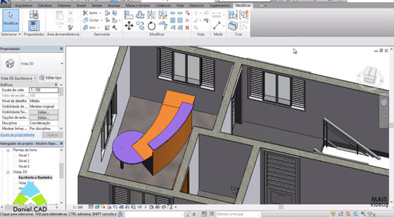 How to use revit for creating drawing in the foreground