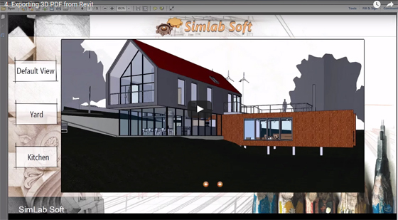 Simlab 3D PDF Exporter for Revit