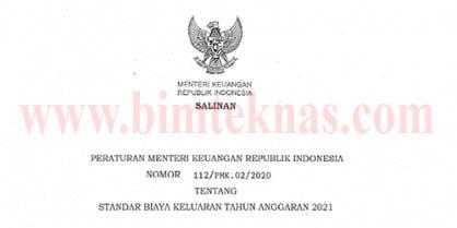 Bimtek Standar Biaya Keluaran Tahun Anggaran 2021 Sesuai PMK Nomor 112PMK.022020