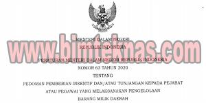 Bimtek Permendagri Nomor 63 Tahun 2020